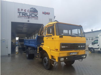 DAF 1800, FULL STELL ,TIPPER WITH CRANE ,4X4 - kiper
