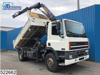 Kiper DAF 85 CF 340 EURO 2, Effer crane, Manual, Steel Suspension, Hub Reduction.