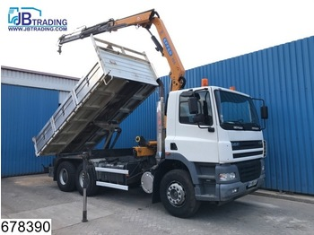 DAF 85 CF 380 6x4, Manual, Steel suspension, Effer crane, Remote control, Analoge tachograaf, Hub reduction, Borden - kiper